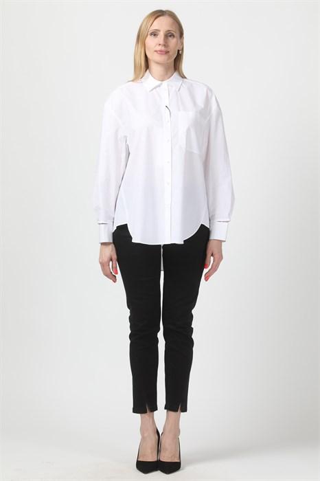 LUISA CERANO - Рубашка белая удлинённая - фото 4897