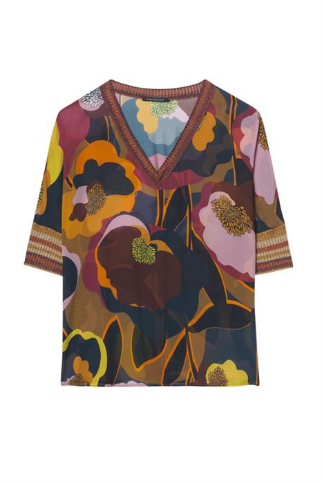 LUISA CERANO - Блуза с цветочным принтом - фото 5562