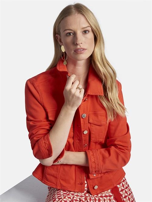 BASLER - Куртка джинсовая красная - фото 5682