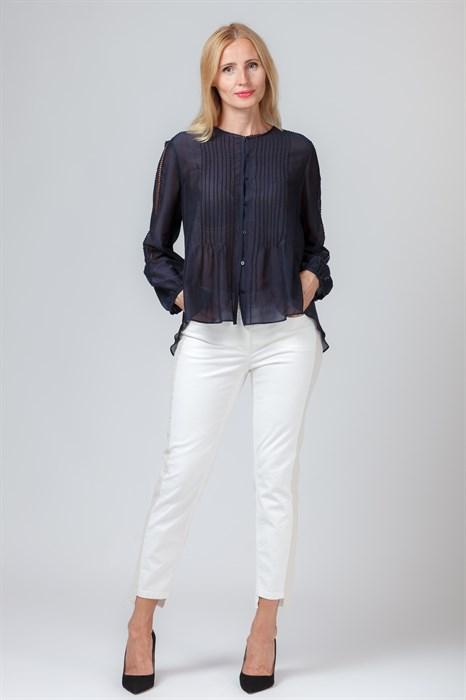 LUISA CERANO - Блуза тёмно-синяя с длинным рукавом