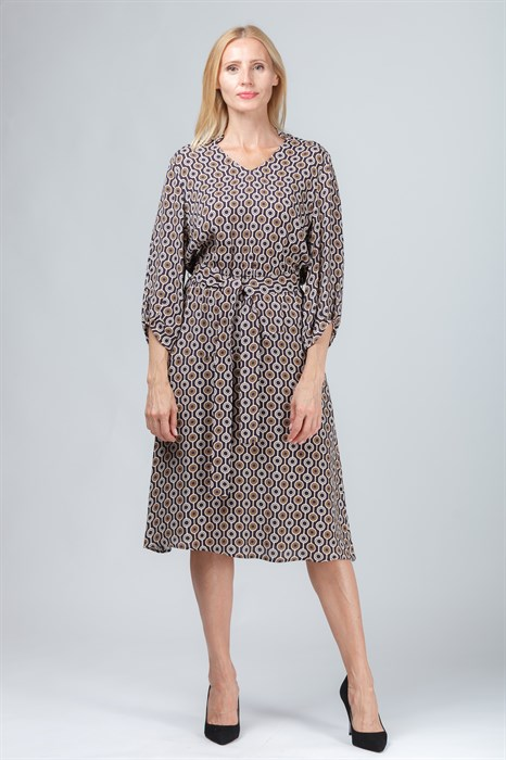 LUISA CERANO - Платье с поясом - фото 6206