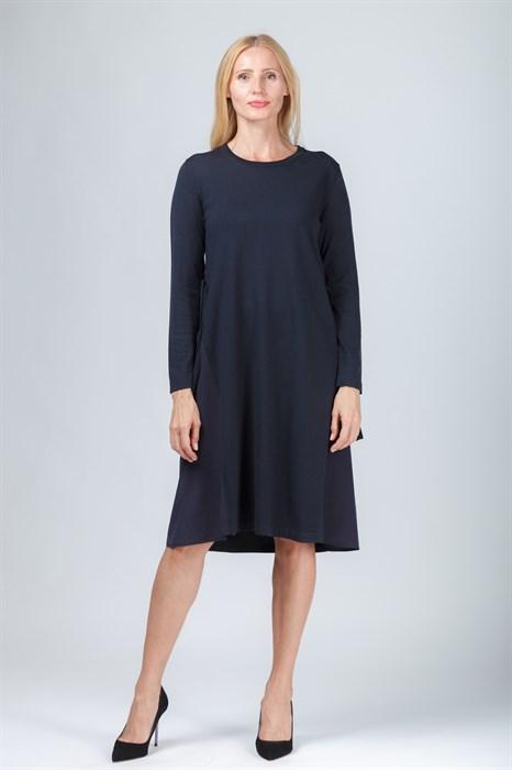LUISA CERANO - Платье трикотажное тёмно-синее - фото 6222