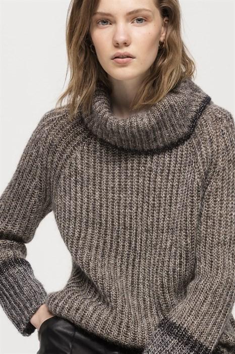 LUISA CERANO - Свитер серый с хомутом