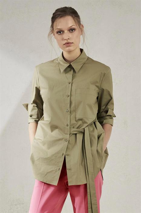 LUISA CERANO - Рубашка с декоративной завязкой на талии