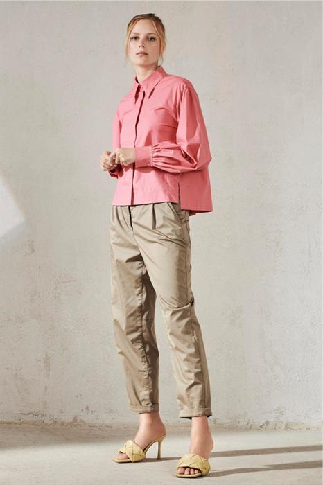 LUISA CERANO - Брюки зауженные атласные цвета хаки