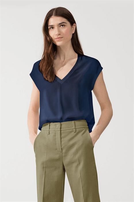 LUISA CERANO - Топ синий комбинированный