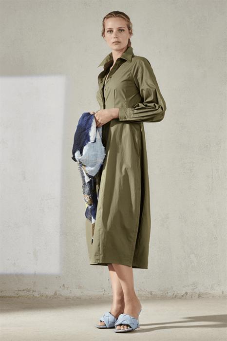 LUISA CERANO - Платье-рубашка оливковое
