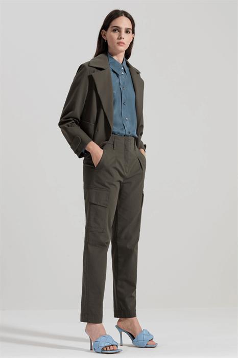 LUISA CERANO - Брюки карго со складками у пояса