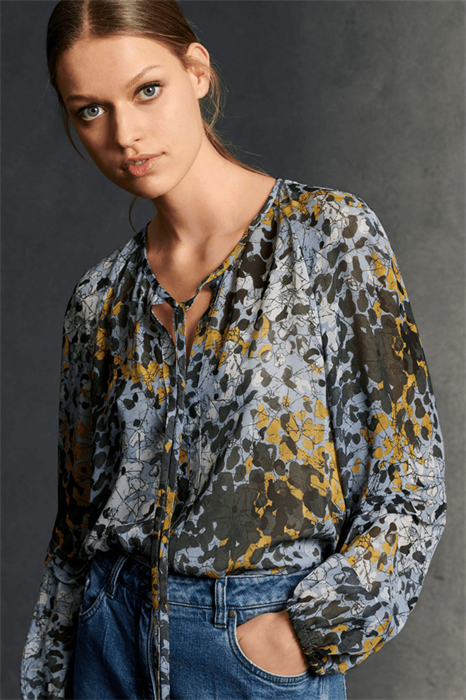 LUISA CERANO - Блузка с камуфляжным принтом - фото 7366