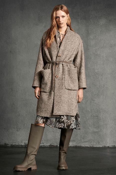 LUISA CERANO - Пальто в ёлочку с накладными карманами