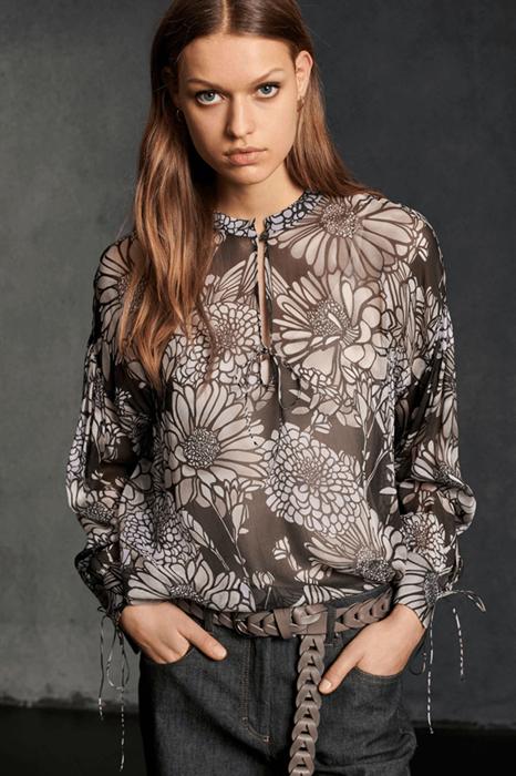LUISA CERANO - Блузка вискозная с цветочным принтом