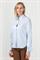 Рубашка голубая с ассиметричным низом - фото 5035