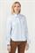 Рубашка голубая с ассиметричным низом - фото 5037