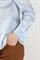 Рубашка голубая с ассиметричным низом - фото 5038