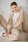 LUISA CERANO - Кардиган бежевый с кашемиром - фото 6794