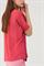 LUISA CERANO - Джемпер оверсайз малиновый с коротким рукавом - фото 7008