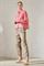 LUISA CERANO - Брюки зауженные атласные цвета хаки - фото 7030