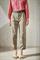 LUISA CERANO - Брюки зауженные атласные цвета хаки - фото 7031