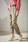 LUISA CERANO - Брюки зауженные атласные цвета хаки - фото 7032