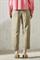 LUISA CERANO - Брюки зауженные атласные цвета хаки - фото 7033