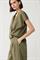 LUISA CERANO - Блузка-рубашка оливковая комбинированная - фото 7144