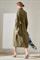LUISA CERANO - Платье-рубашка оливковое - фото 7181