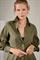 LUISA CERANO - Платье-рубашка оливковое - фото 7182