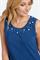 BASLER - Топ трикотажный синий с декоративной отделкой - фото 7269