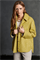 LUISA CERANO - Куртка-рубашка жёлтая с рисунком в елочку - фото 7399