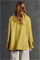 LUISA CERANO - Куртка-рубашка жёлтая с рисунком в елочку - фото 7401