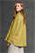 LUISA CERANO - Куртка-рубашка жёлтая с рисунком в елочку - фото 7402